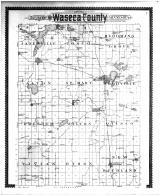 Outline Map of Waseca County, Waseca County 1896